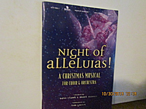 Song Book Night Of Alleluias A Christmas Musical
