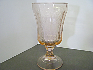 Vintage Indiana Glass Pink Depression Wine Goblet