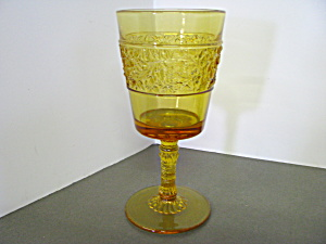 Vintage Indiana Glass Amber Depression Wine Goblet
