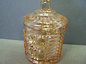 Vintage Indiana Glass Peach Depression Jelly Jar