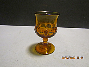 Indiana/colony Crown Color Amber Thumbprint Wine Goblet