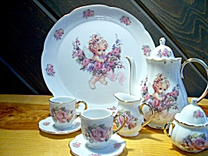 Inspirational Angel And Roses Tea Set
