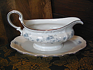 Johann Haviland Blue Garland Attacted Plate Gravy Boat
