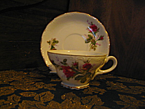 Japan Moss Rose Cup And Saucer Set
