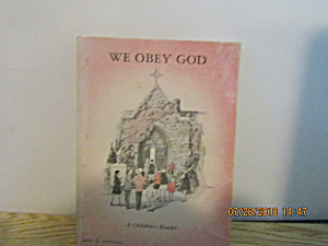 Vintage Young Person's Book We Obey God