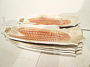 Vintage Ceramic Corn On The Cob Holders