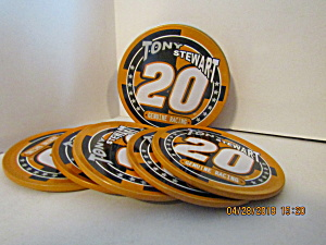 Vintage Nascar Tony Stewart Coaster Set & Tin