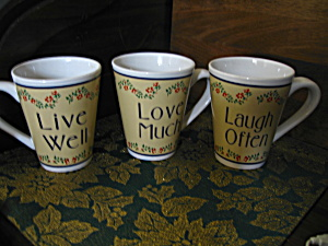Collectible Coffee Cup Love Much/laugh Often/live Well