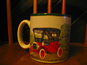 Collectible Coffee Cup Burton Antique Auto Collection
