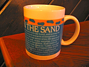 Collectible Coffee Cup Footprints In The Sand Mug