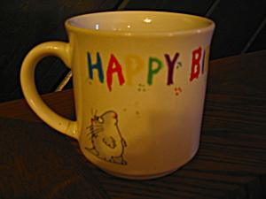 Collectible Coffee Cup Happy Birthday Mug