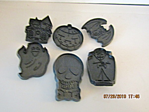 Vintage Black Halloween Small Cookie Cutter Set