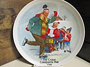 The Skating Lesson Grandparents Collector Plate