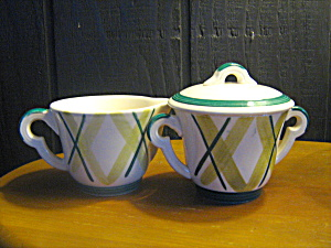 Vintage Knowles Pasadena Covered Sugar & Creamer Set