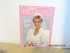 Vintage Magazine Simplicity Bridal Sewing & Crafts