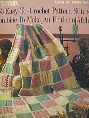 Leisure Arts 63 Easy-to-crochet Pattern Stitches #555