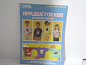 Leisure Arts Applique For Kids #1065