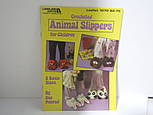Leisure Arts Crocheted Animal Slippers #1070