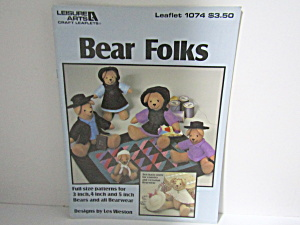 Leisure Arts Bear Folks #1074
