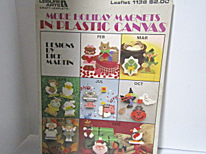 Leisure A More Holiday Magnets In Plastic Canvas #1138