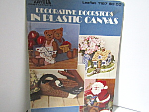 Leisure Arts Decorative Doorstop In Plasticcanvas #1187