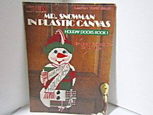 Leisure Art Mr. Snowman In Plastic Canvas #1255