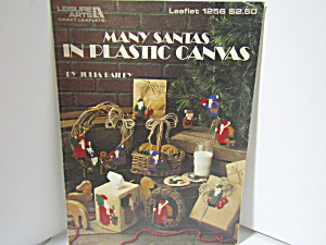 Leisure Art Many Santas In Plastic Canvas #1256