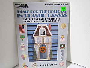Leisure Arts Home For Holidays In Plastic Canvas #1266