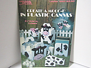 Leisure Arts Create A Mooo-d In Plastic Canvas #1293