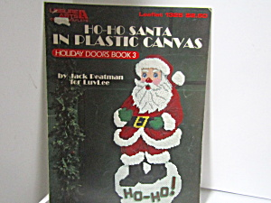 Leisure Art Ho-ho Santa In Plastic Canvas #1325