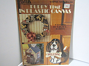 Leisurearts Puppy Time In Plastic Canvas #1371