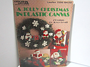 Leisure Art Jolly Christmas In Plastic Canvas #1392