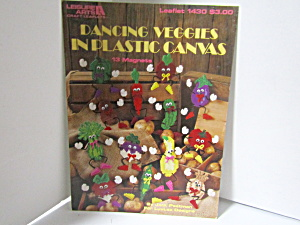 Leisure Arts Dancing Veggies In Plastic Canvas #1430