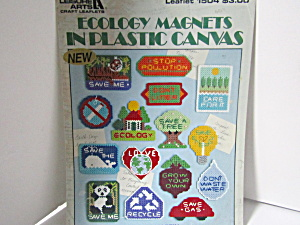 Leisure Arts Ecology Magnets In Plastic Canvas #1504
