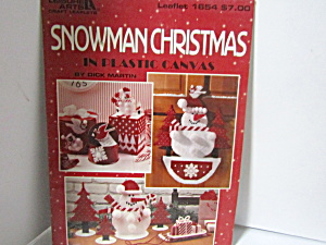 Leisure Arts Snowman Christmas In Plastic Canvas #1654