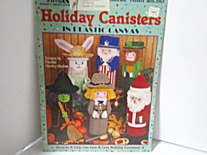 Leisure Arts Holiday Canisters In Plastic Canvas #1685