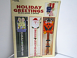 Leisure Arts Holiday Greetings In Plastic Canvas #1760