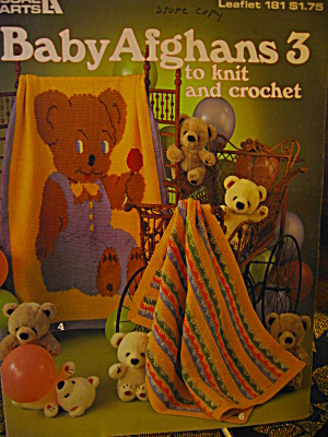 Leisure Arts Baby Afghans 3 To Knit & Crochet