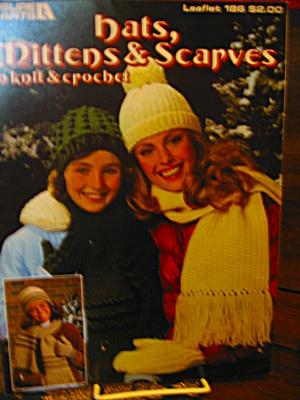 Leisure Arts Hats,Mittens & Scarves Knit & Crochet #186 (Image1)