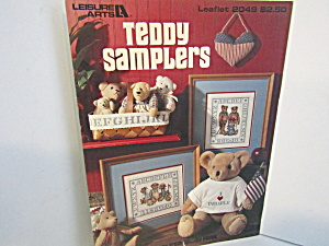 Leisure Arts Cross Stitch Teddy Samplers #2049