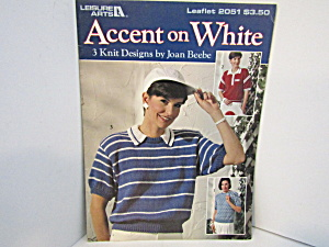 Leisure Arts Sweaters  Accent On White #2051 (Image1)