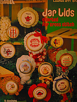 Leisure Arts Jar Lids For Cross Stitch #211
