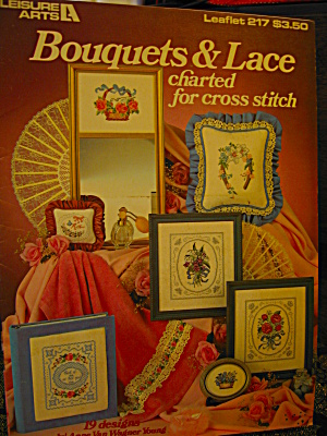 Leisure Arts Bouquets & Lace Cross Stitch #217