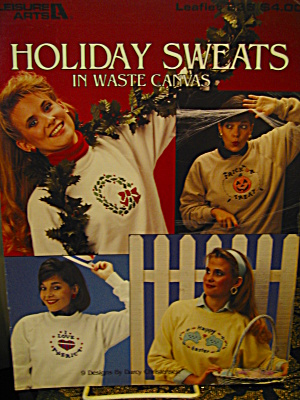 Leisure Arts Holiday Sweats In Waste Canves #233