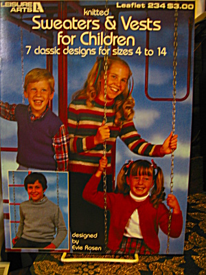 Leisure Arts Sweaters & Vests for Children #234 (Image1)