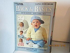 Leisure Arts Kids Back To Basics Set-in Sleeves  #2435 (Image1)