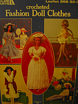 Leisure Arts Crocheted Fashion Doll Clothes #268