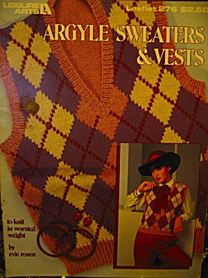 Leisure Arts Argyle Sweaters & Vests #276