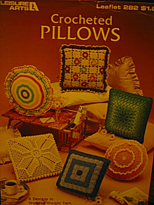 Leisure Arts Crocheted Pillows #282