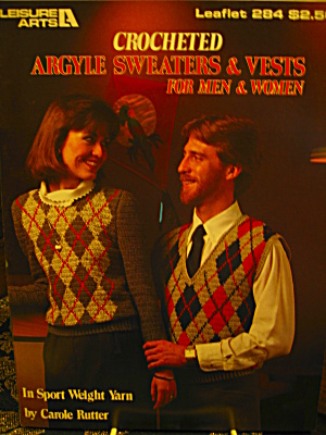 Leisure Arts Argyle Sweaters/vests For Men/women #284